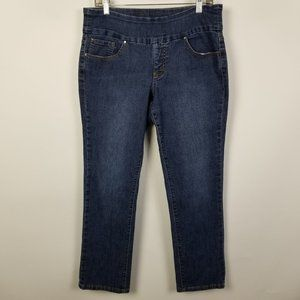 Jag Jeans Pull On Straight Dark Wash 12P 12 Petite